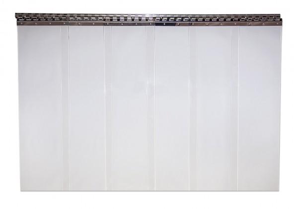 PVC-Streifenvorhang transparent 200 x 2 mm - Breite 1,00 m