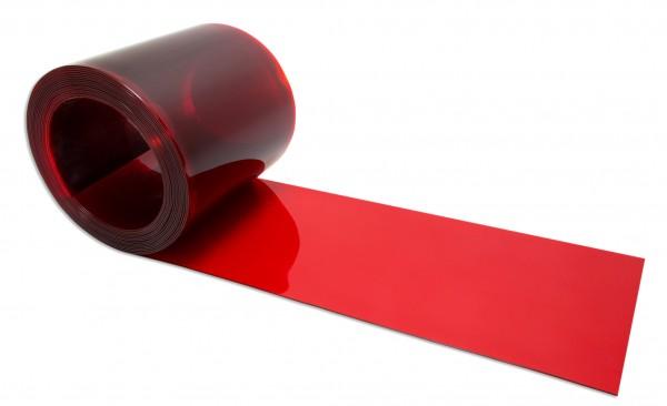 PVC Streifen Meterware als Zuschnitt 300 x 3 mm rot - transparent